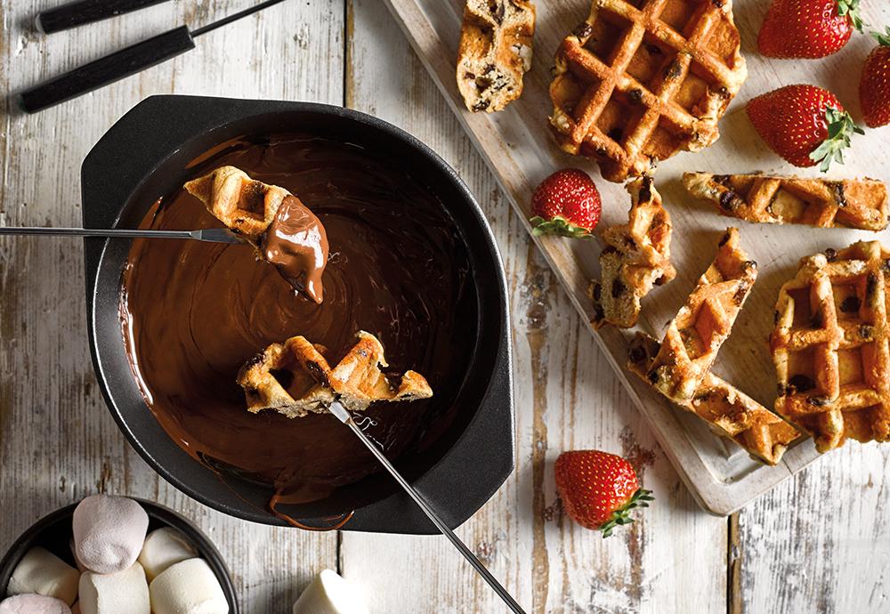 St Pierre waffle chocolate Fondue