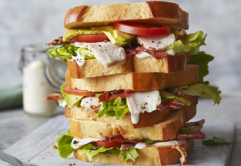 St Pierre Brioche Loaf Club Sandwich