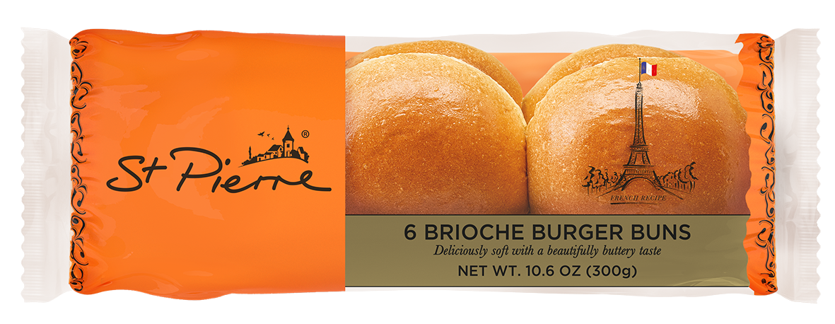 St Pierre 6 Pack Brioche Burger Buns