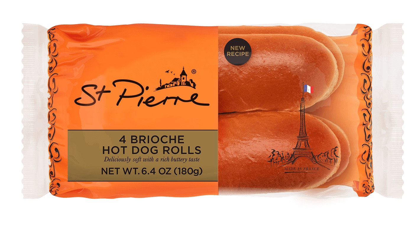 4 St Pierre Hot Dog Rolls