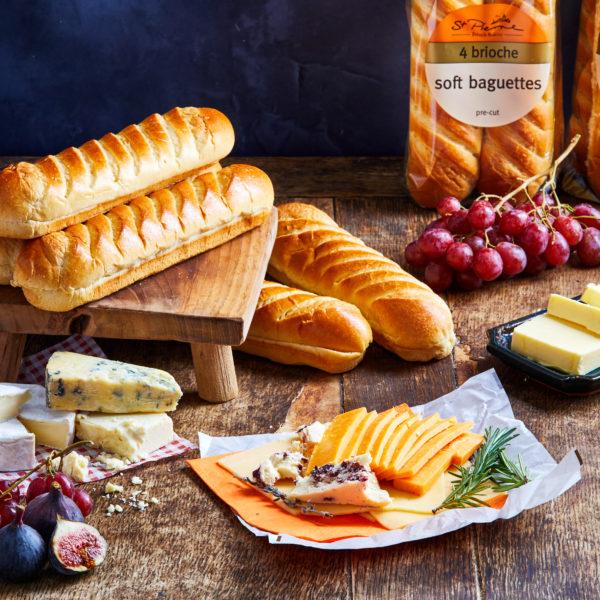 St Pierre Brioche Bread With Cheese Platter