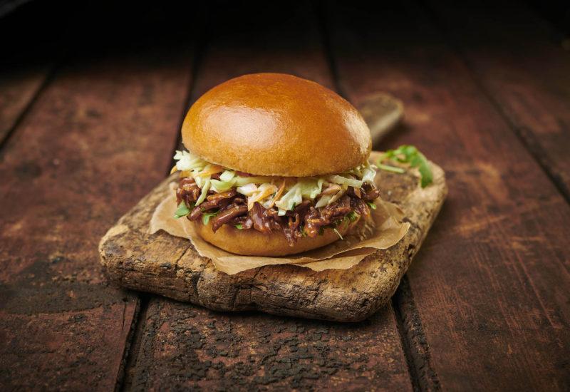 Pulled Pork Burgers With Jalapeño Slaw