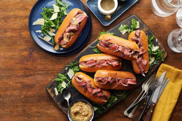 Posh Steak Hot Dog Sandwich