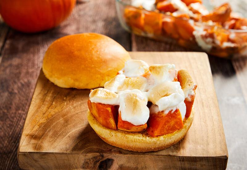 Candied Sweet Potato Burgers