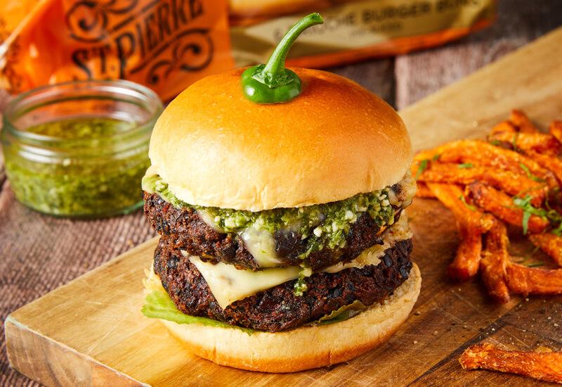 Halloween Black Bean Burger