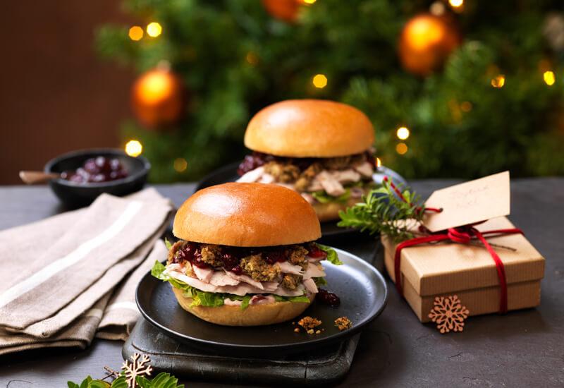 Leftover Turkey & Stuffing Brioche Burgers