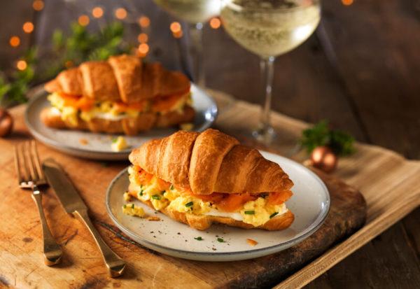Scrambled Egg & Smoked Salmon Croissants