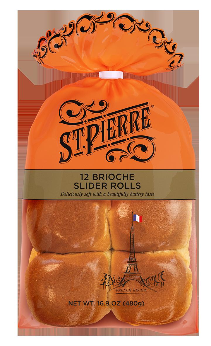 St Pierre 12 Brioche Slider Rolls Pack Shot