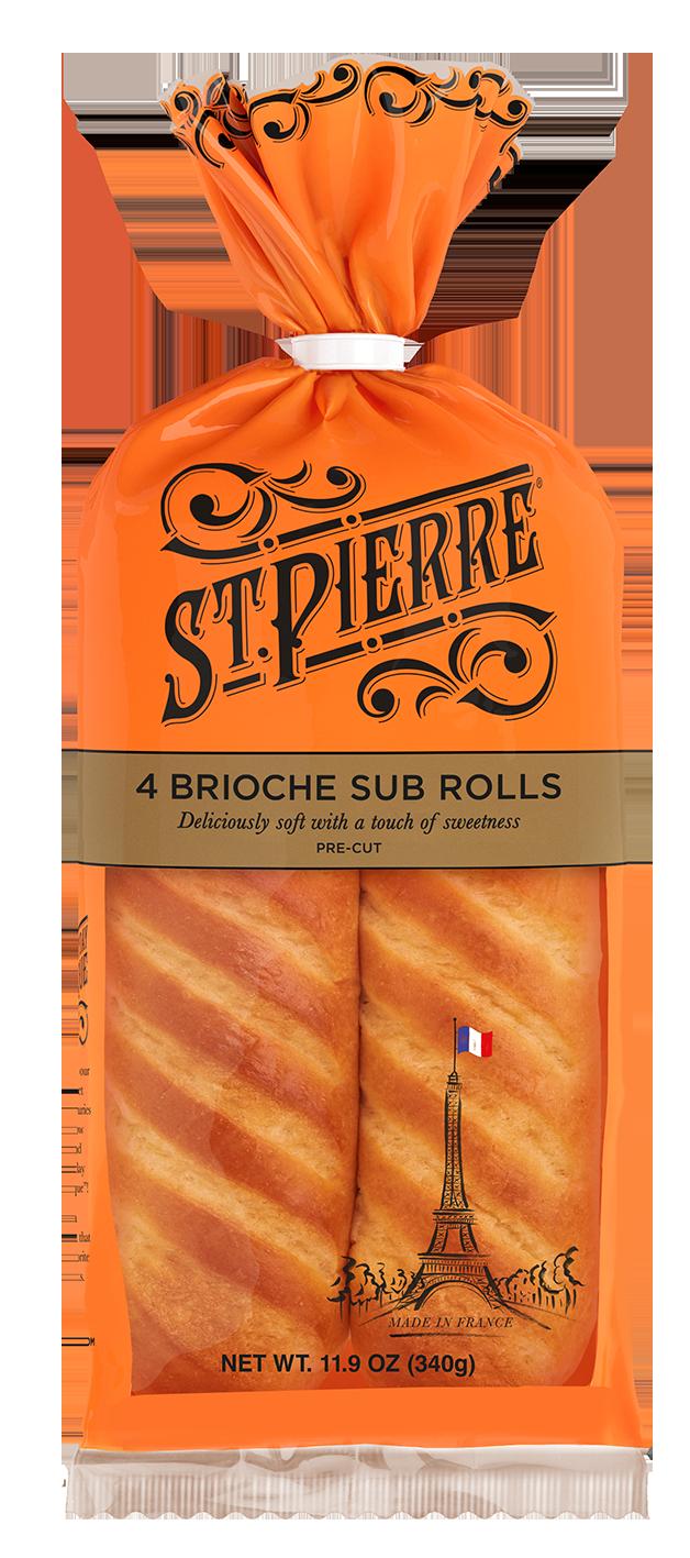 St Pierre 4 Brioche Sub Rolls Pack Shot