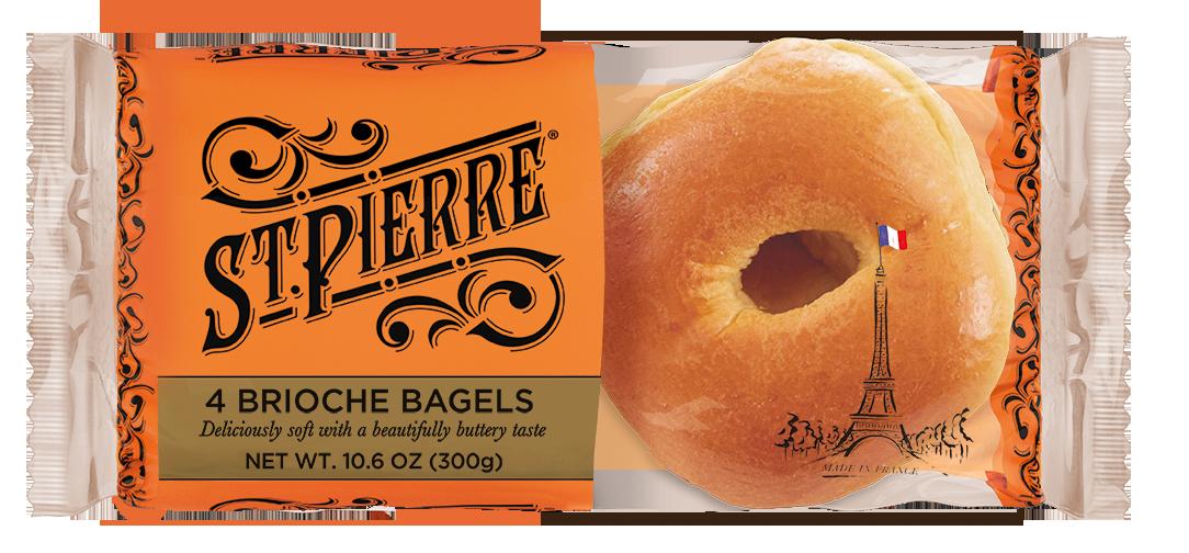 St Pierre 4 Brioche Bagels Pack Shot